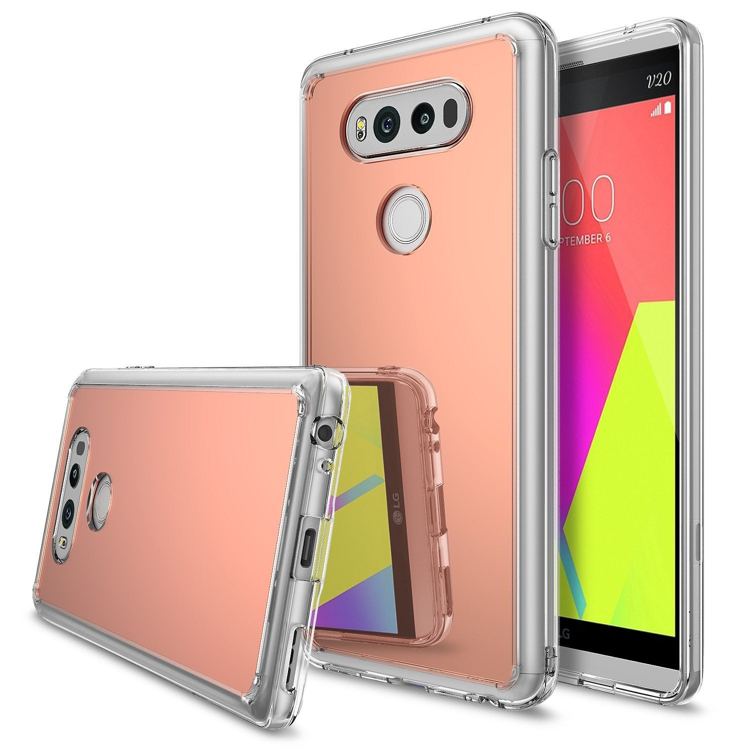 lg v20 case ringke fusion case mirror case bright reflection radiant luxury mirror case silver