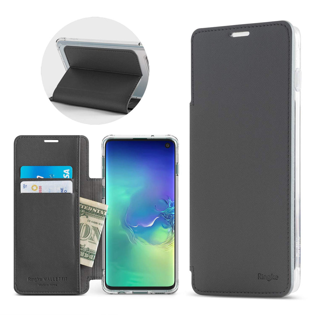 galaxy s10 wallet fit case ash gray