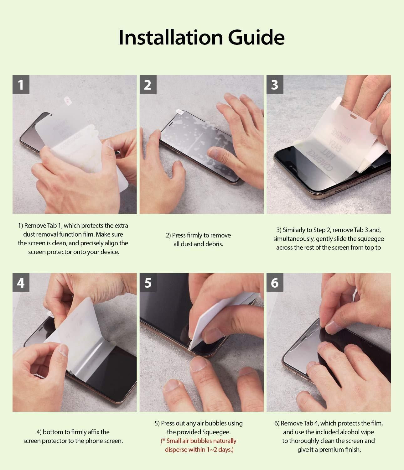 ringke dual easy film for iphone xr screen protector installation guide