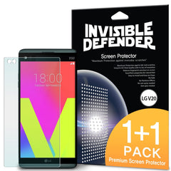 LG V20, Ringke® Invisible Defender [Full Coverage] 2-Pack Screen Protector