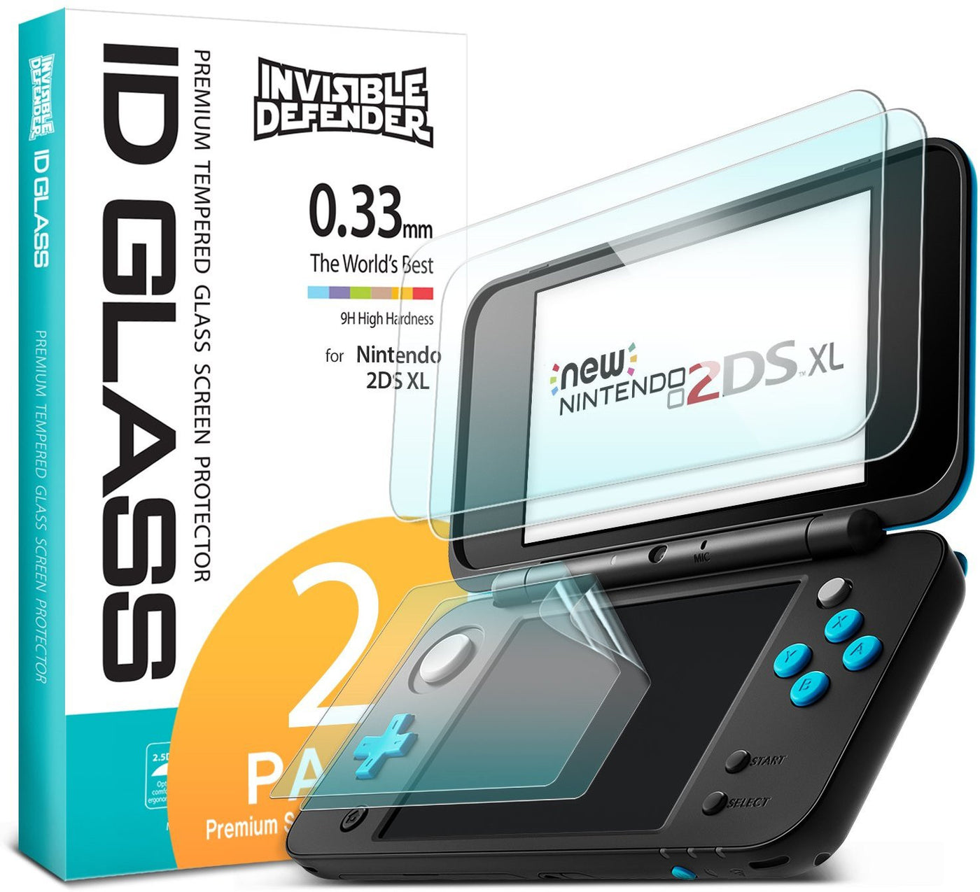 nintendo 2ds xl ringke invisible defender tempered glass 0 33mm