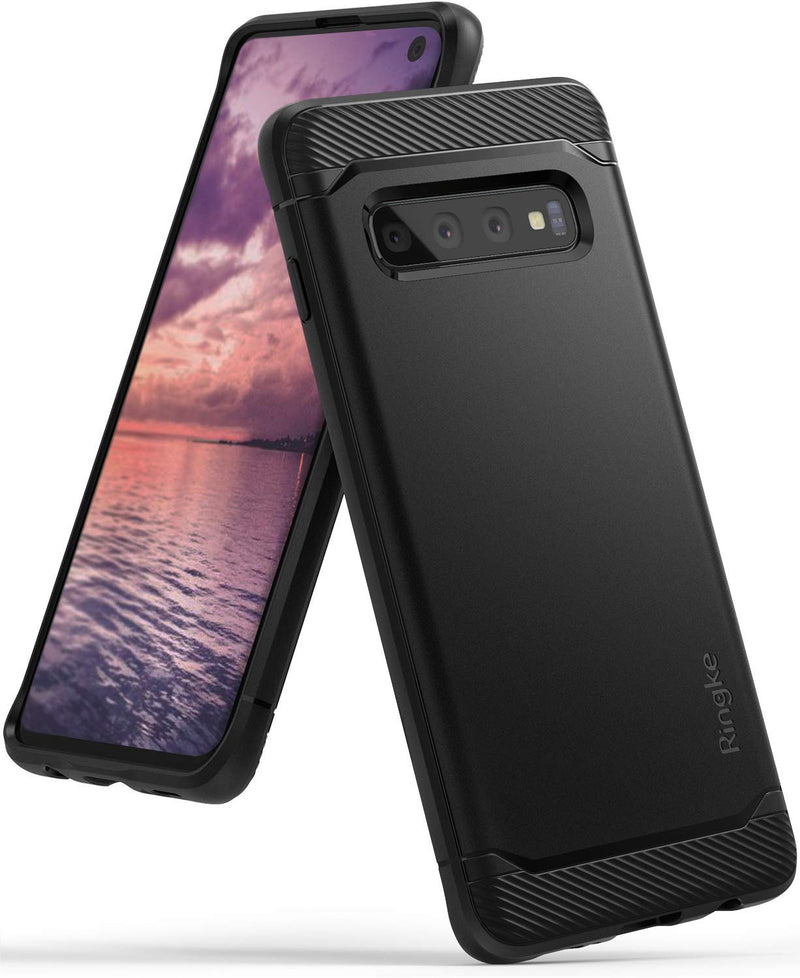 galaxy s10 case, ringke, onyx case, black