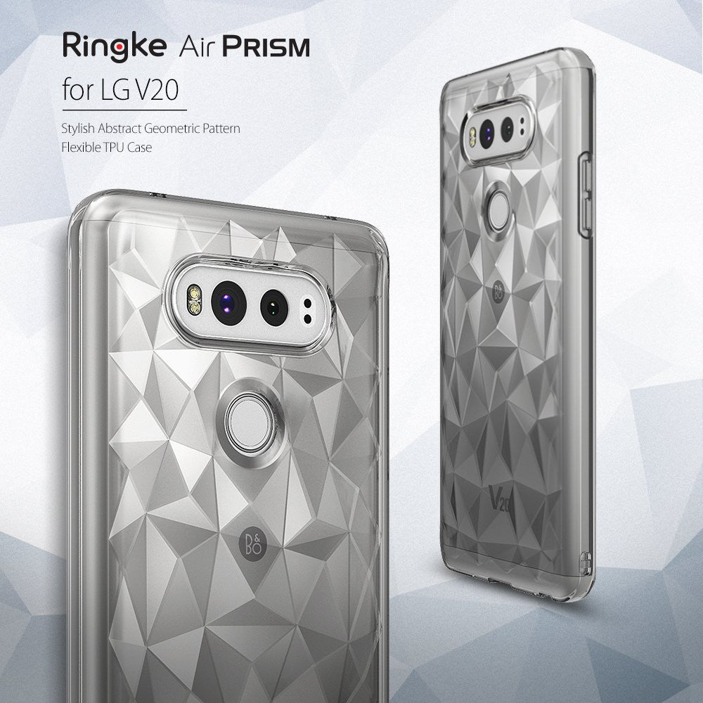LG V20 Case, Ringke®[AIR PRISM] 3D Contemporary Design Slim Flexible TPU Protective Case