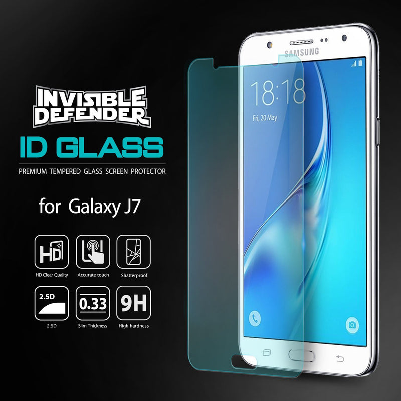 Galaxy J7 2016, Ringke® [INVISIBLE DEFENDER] [0.33mm] Tempered Glass Screen Protector