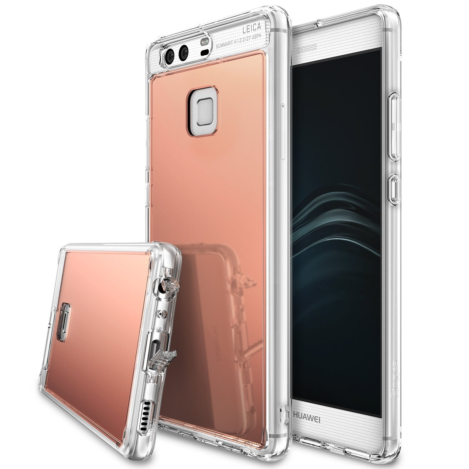 fusion case mirror case huawei mate 8 bright reflection radiant luxury mirror case royal gold