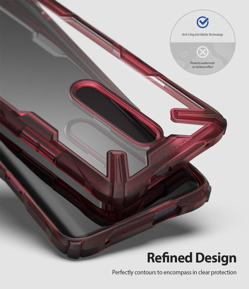 oneplus 7 pro fusion-x case Ruby Red