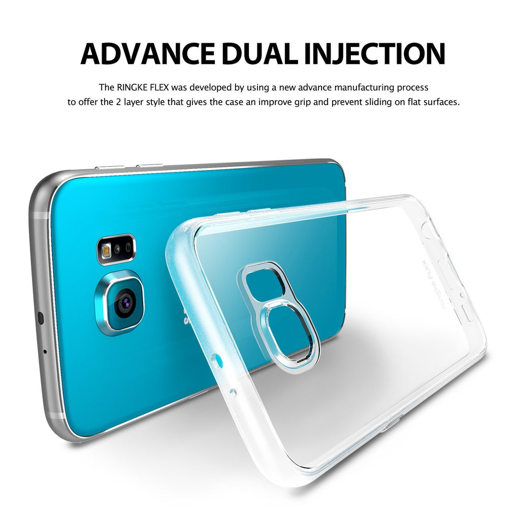 ringke flex clear back cover case for galaxy s6