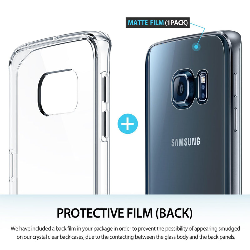Galaxy S6 Edge Case, Ringke® [FUSION] Crystal Clear PC Back TPU Bumper Case