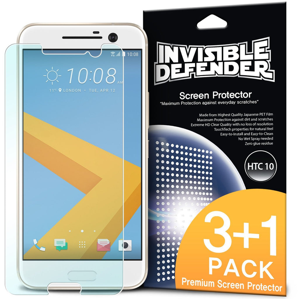 htc 10 invisible defender 3+1 pack