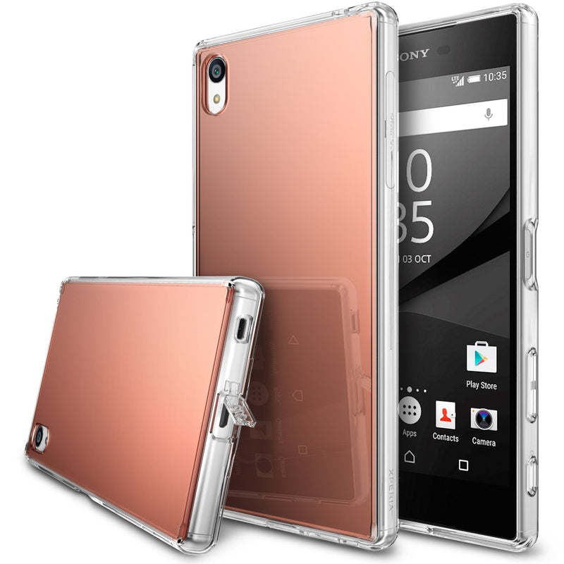 xperia z5p p-fusion case mirror case rose gold crystal