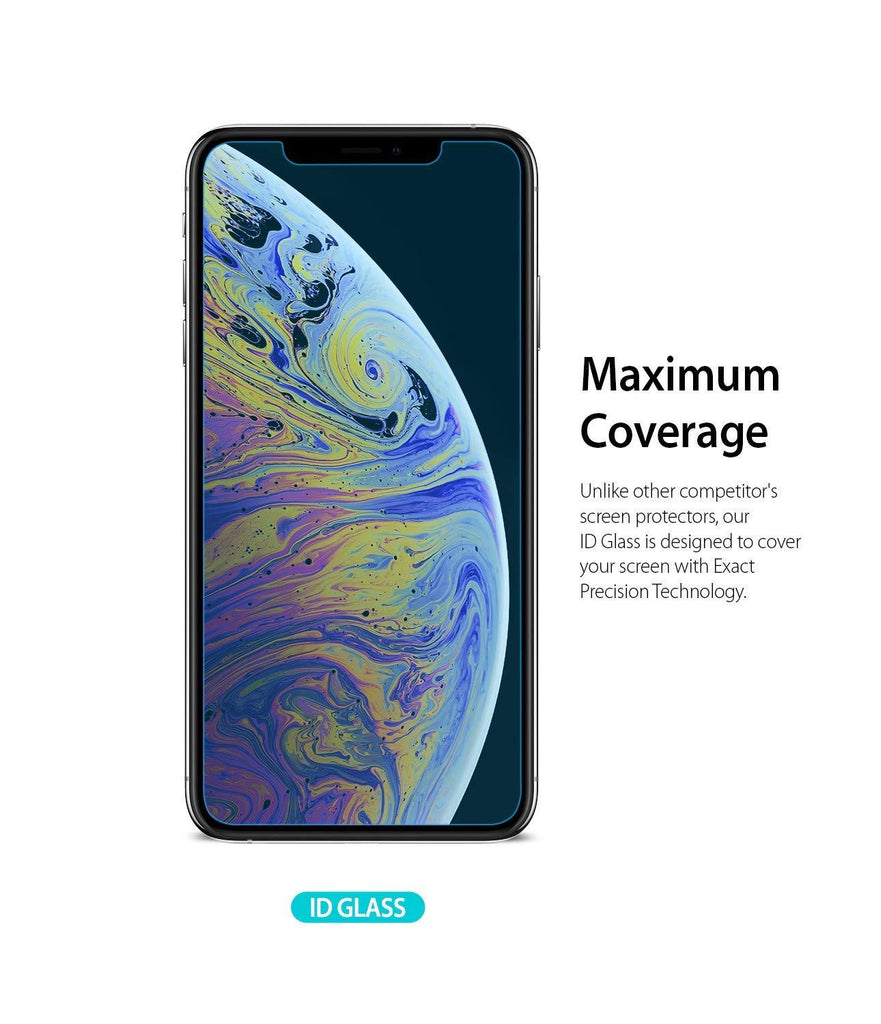 ringke tempered glass screen protector for iphone xs max
