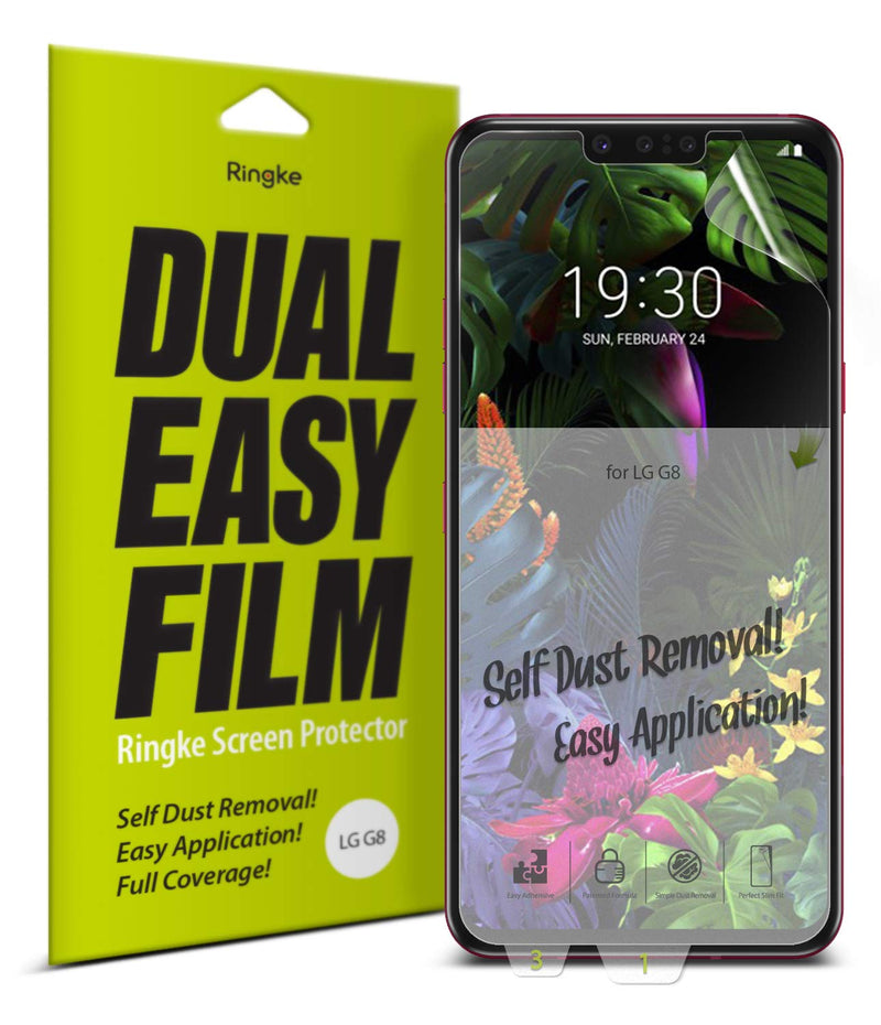 lg g8 thinq dual easy full cover screen protector 2 pack