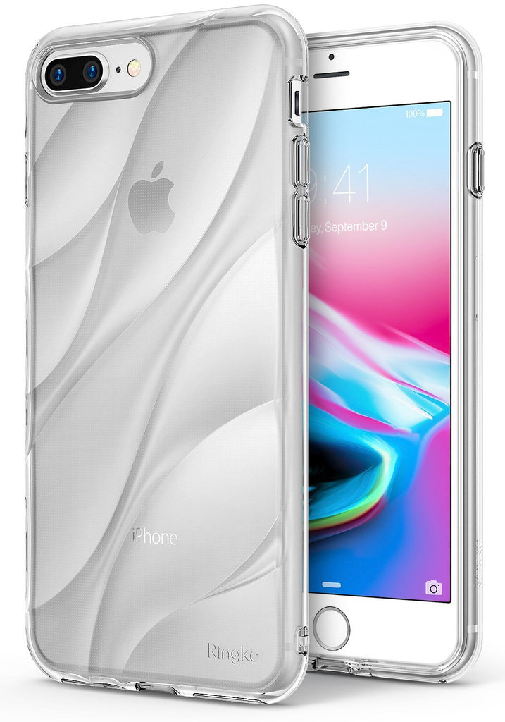 ringke flow streamedline design back case cover for iphone 7 plus 8 plus main clear