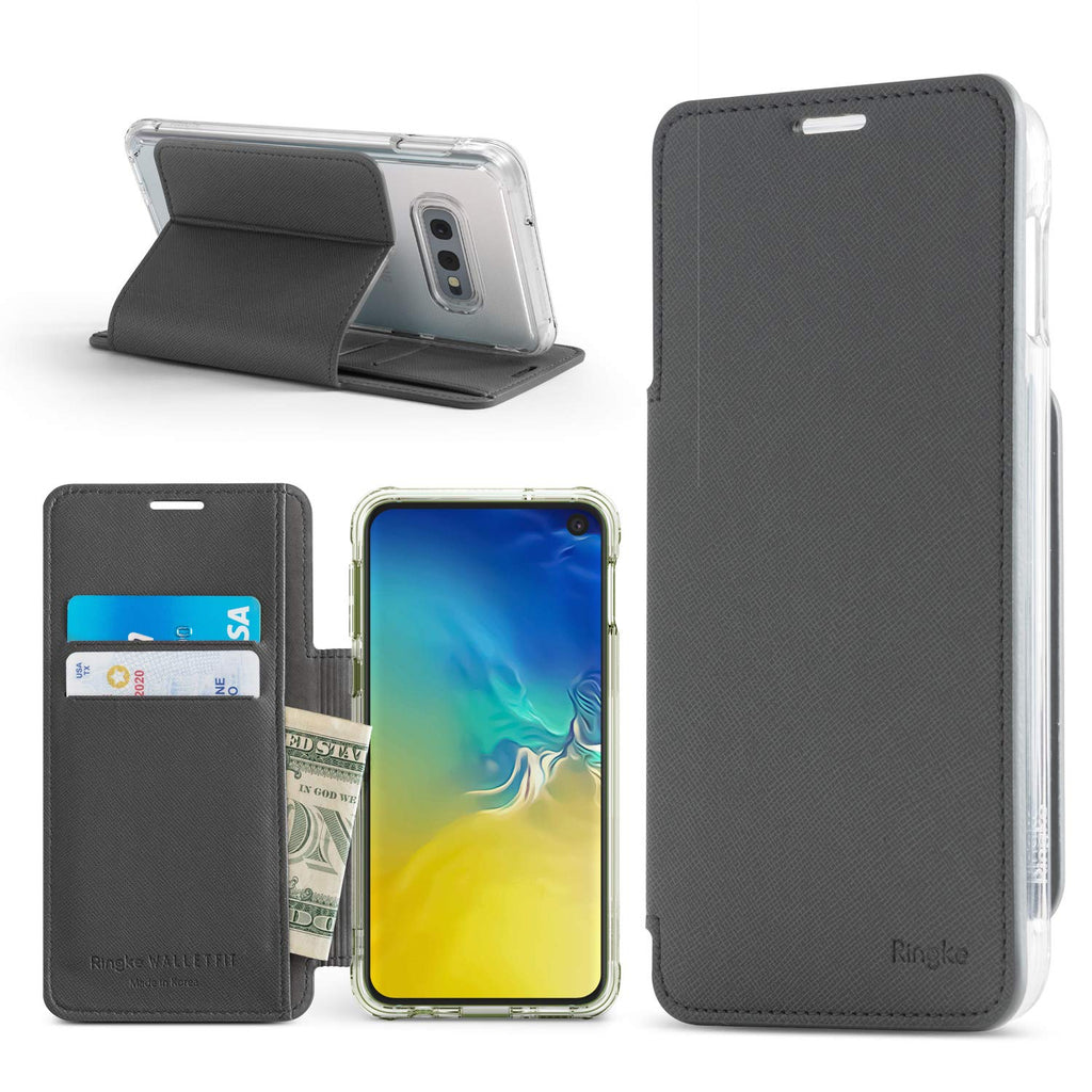 galaxy s10e wallet wallet-fit ash gray