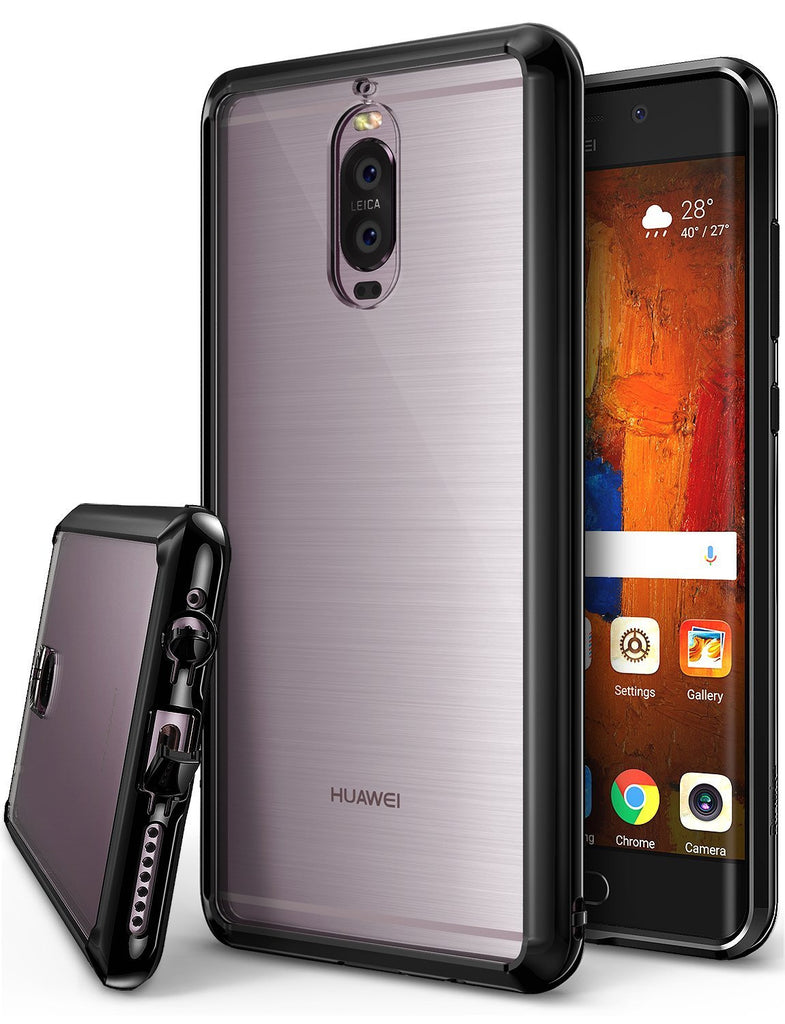 huawei mate 9 pro case ringke fusion case crystal clear pc back tpu bumper case ink black
