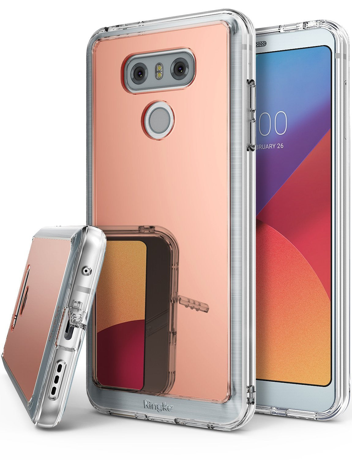 LG G6 Case, Ringke®[FUSION MIRROR] Bright Reflection Radiant Luxury Mirror Case
