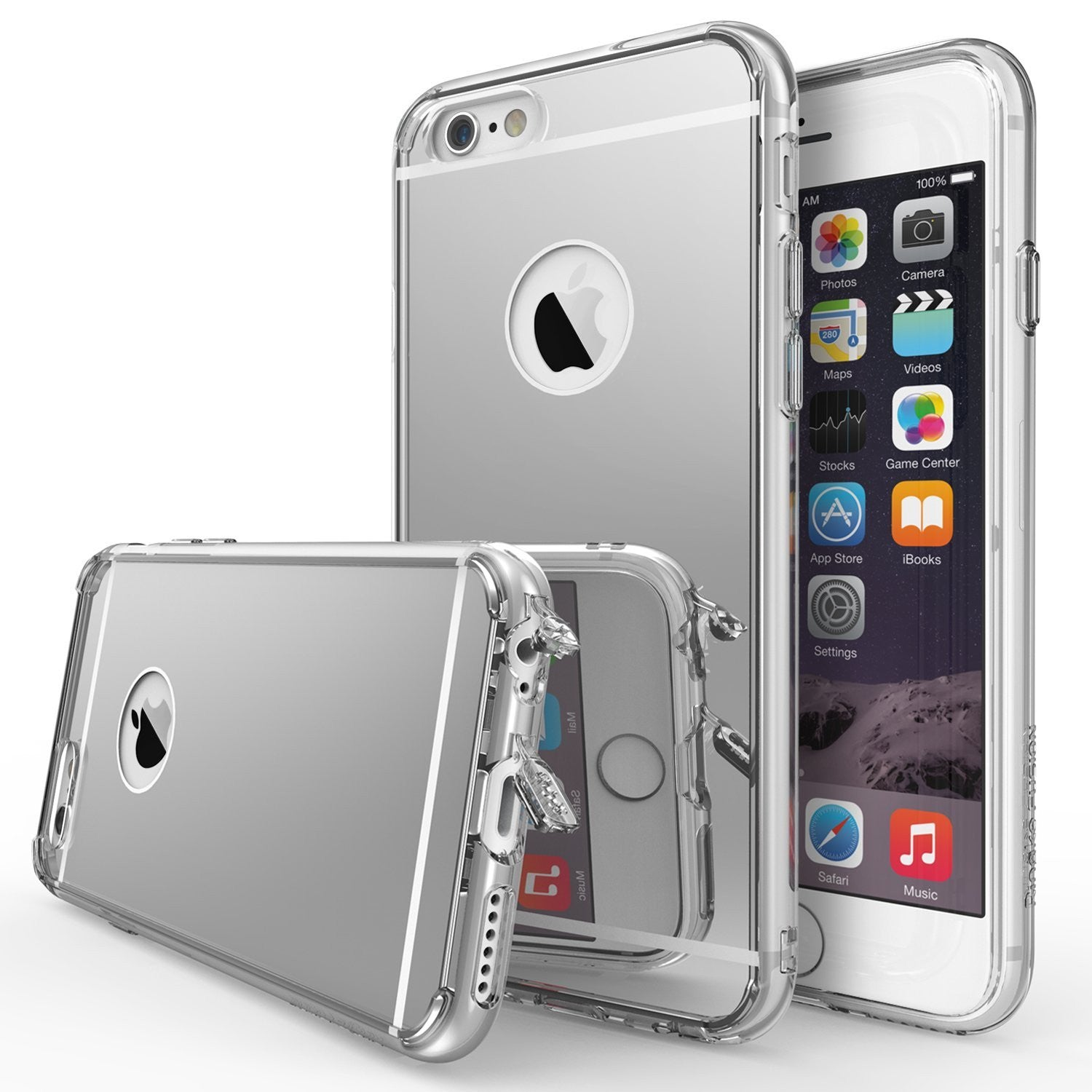 ringke mirror back hard back case cover for iphone 6 plus 6s plus main silver