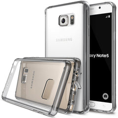 Galaxy Note 5 Case, Ringke® [FUSION] Crystal Clear PC Back TPU Bumper Case