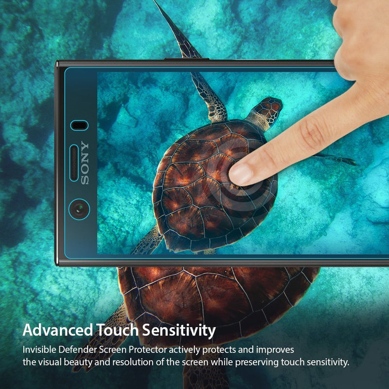 Sony Xperia XZ1 Compact [INVISIBLE DEFENDER] Full Coverage Screen Protector