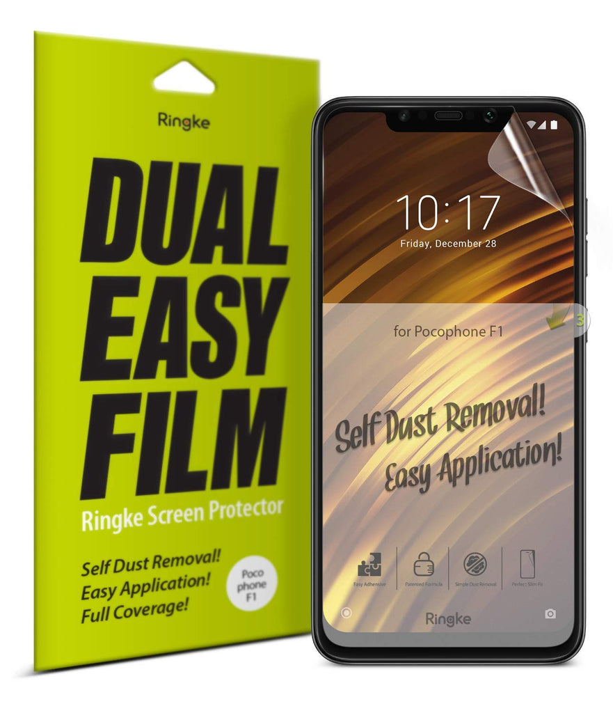 xiaomi pocophone f1 dual easy full cover screen protector 2 pack