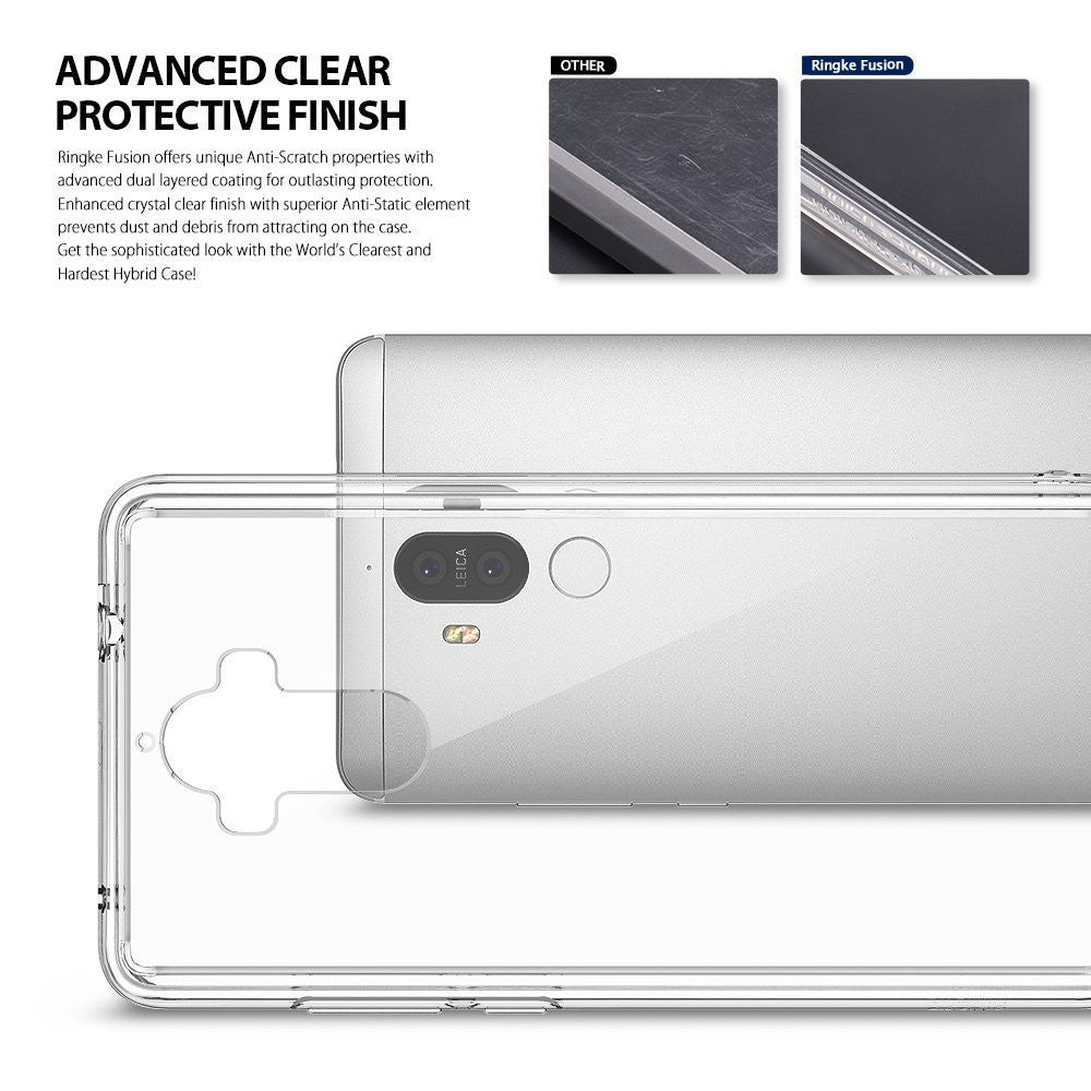 Huawei Mate 9 Case, Ringke® [FUSION] Crystal Clear PC Back TPU Bumper Case