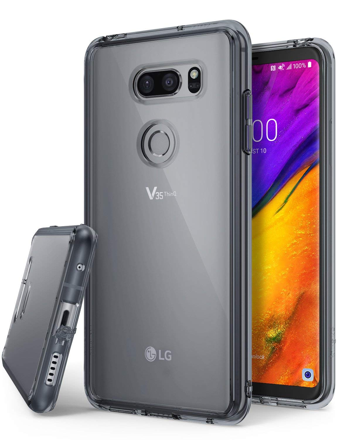 lg v35 thinq fusion case smoke black