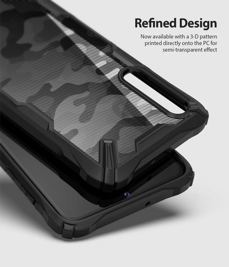 Galaxy A70, ringke fusion-x case, camo black, design case, refined design