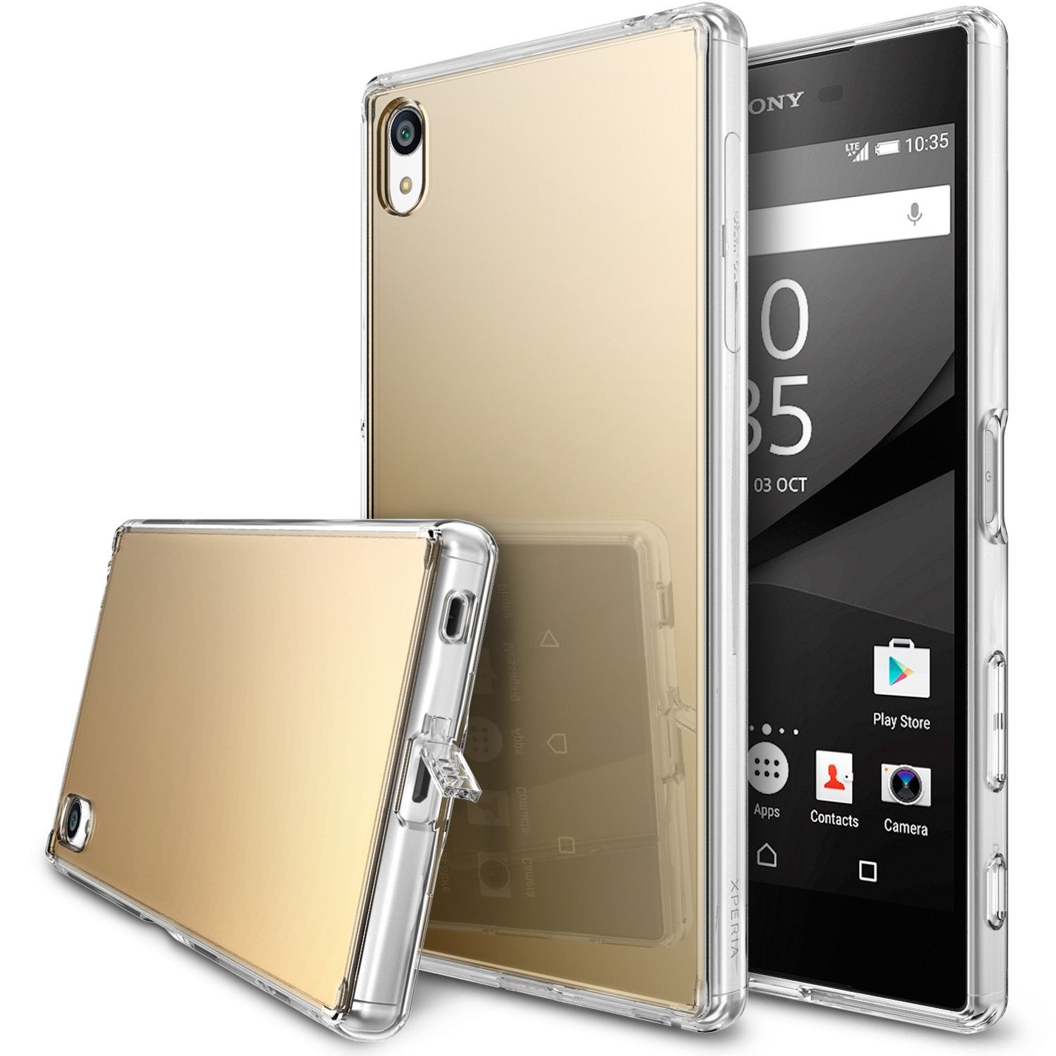 xperia z5p p-fusion case mirror case royal gold