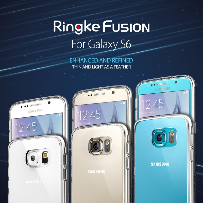 Galaxy S6 Case, Ringke® [FUSION] Crystal Clear PC Back TPU Bumper Case