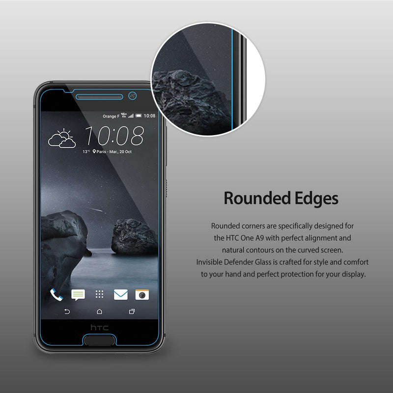 htc one a9 invisible defender tempered glass screen protector