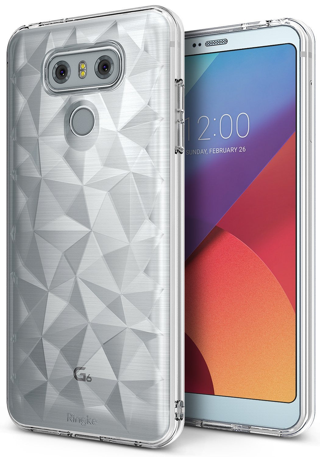 LG G6 Case, Ringke® [AIR PRISM] 3D Contemporary Design Slim Flexible TPU Protective Case