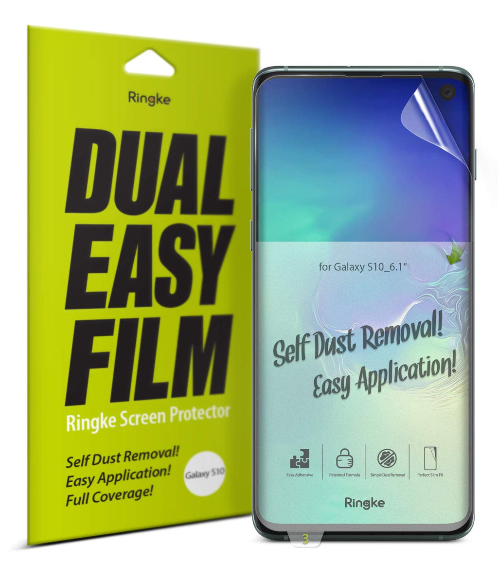 Galaxy S10 [Dual Easy Full Cover] Screen Protector [2 Pack]