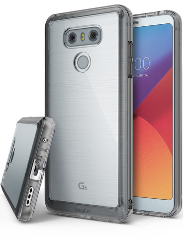 LG G6 Case, Ringke®[FUSION] Crystal Clear PC Back TPU Bumper Case