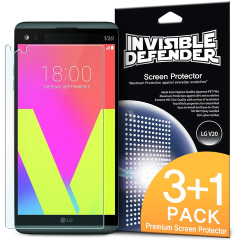 LG G6 2017, Ringke® [INVISIBLE DEFENDER] 4-Pack HD Clearness Screen Protector