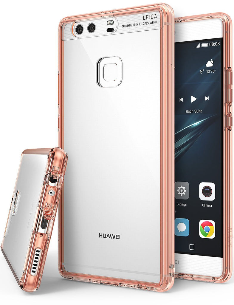 huawei p9 plus case ringke fusion case crystal clear pc back tpu bumper case rose gold