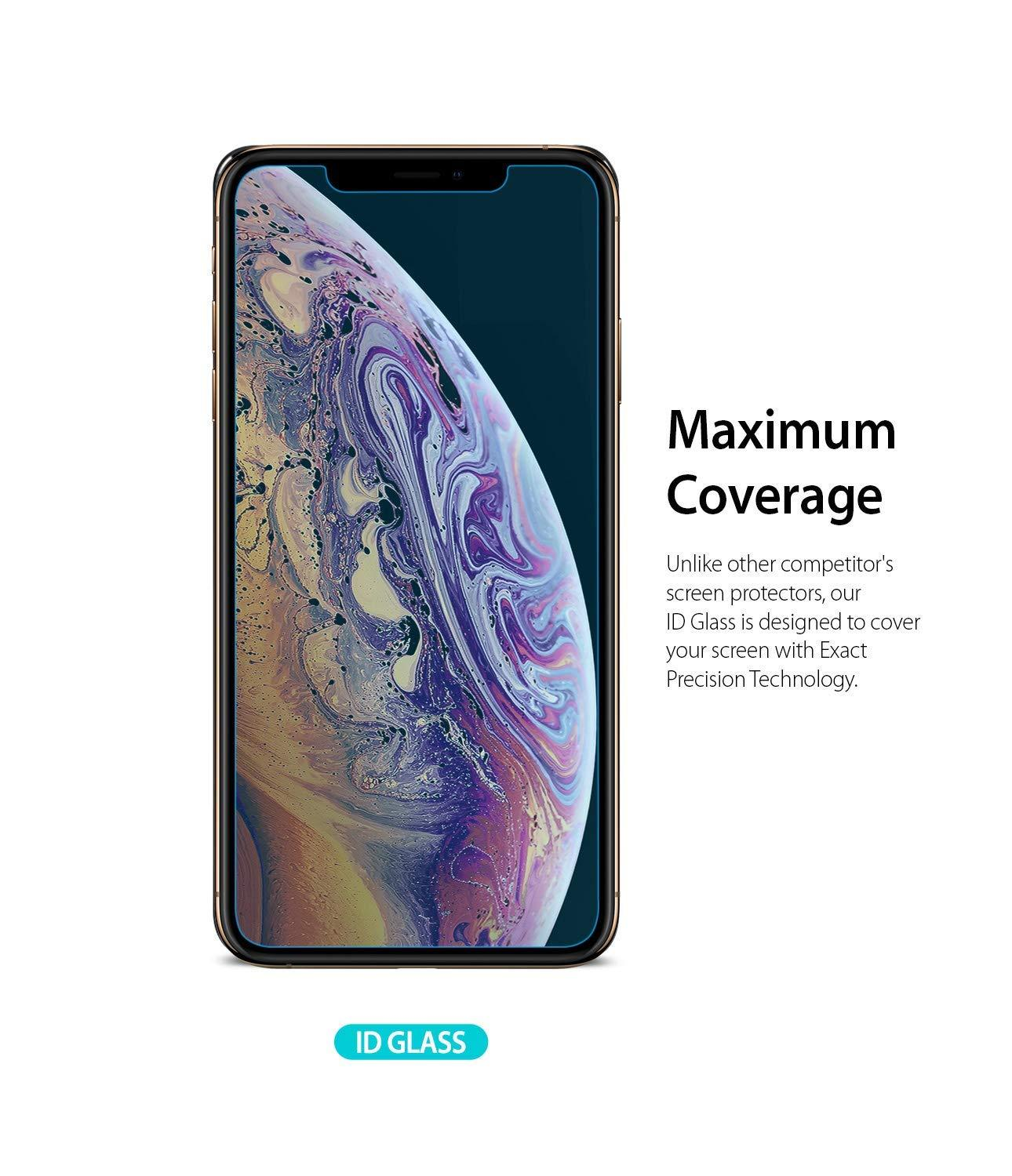 ringke invisible defender for iphone xs tempered glass screen protector maximum coverage