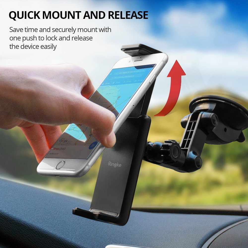 ringke monster car mount - quick mount grip and release
