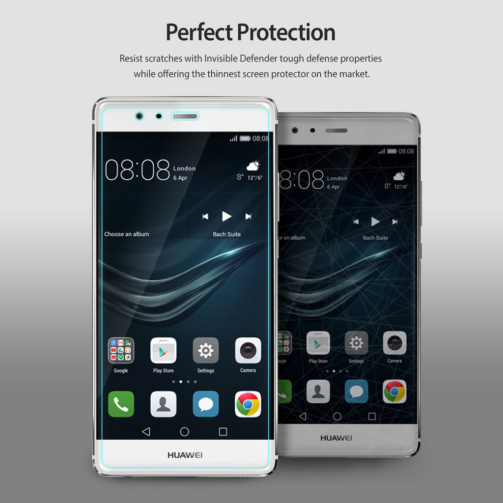 huawei p9, ringke invisible defender 3+1 pack screen protector