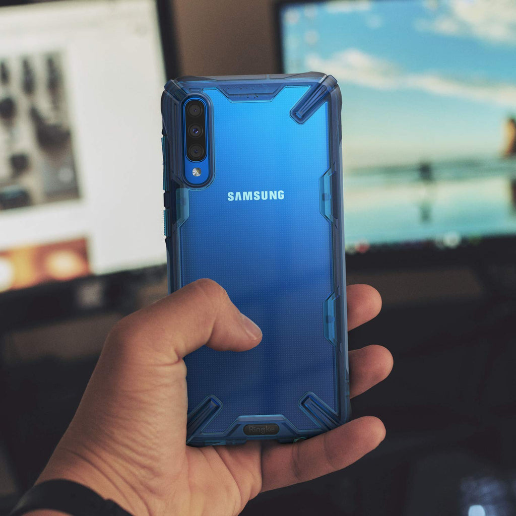 Ringke Fusion-X Designed for Galaxy A50 Case Space Blue