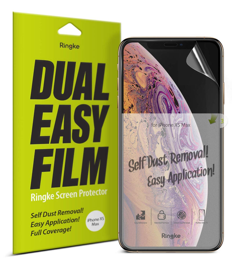 iphone xs max dual easy full coverage screen protector