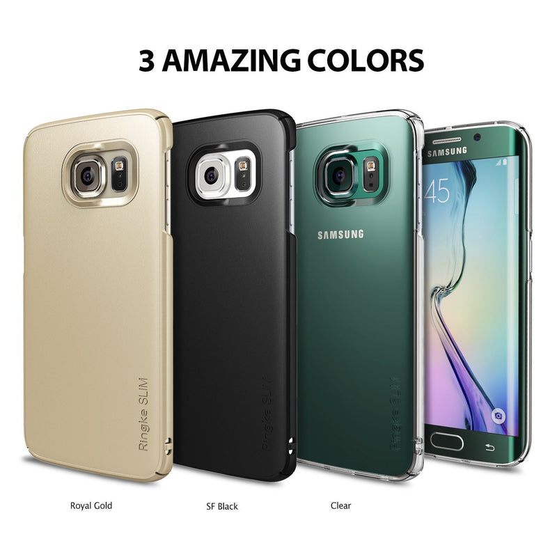 Galaxy S6 Edge Case, Ringke® [Slim] Lightweight & Thin Superior Coaring PC Hard Case