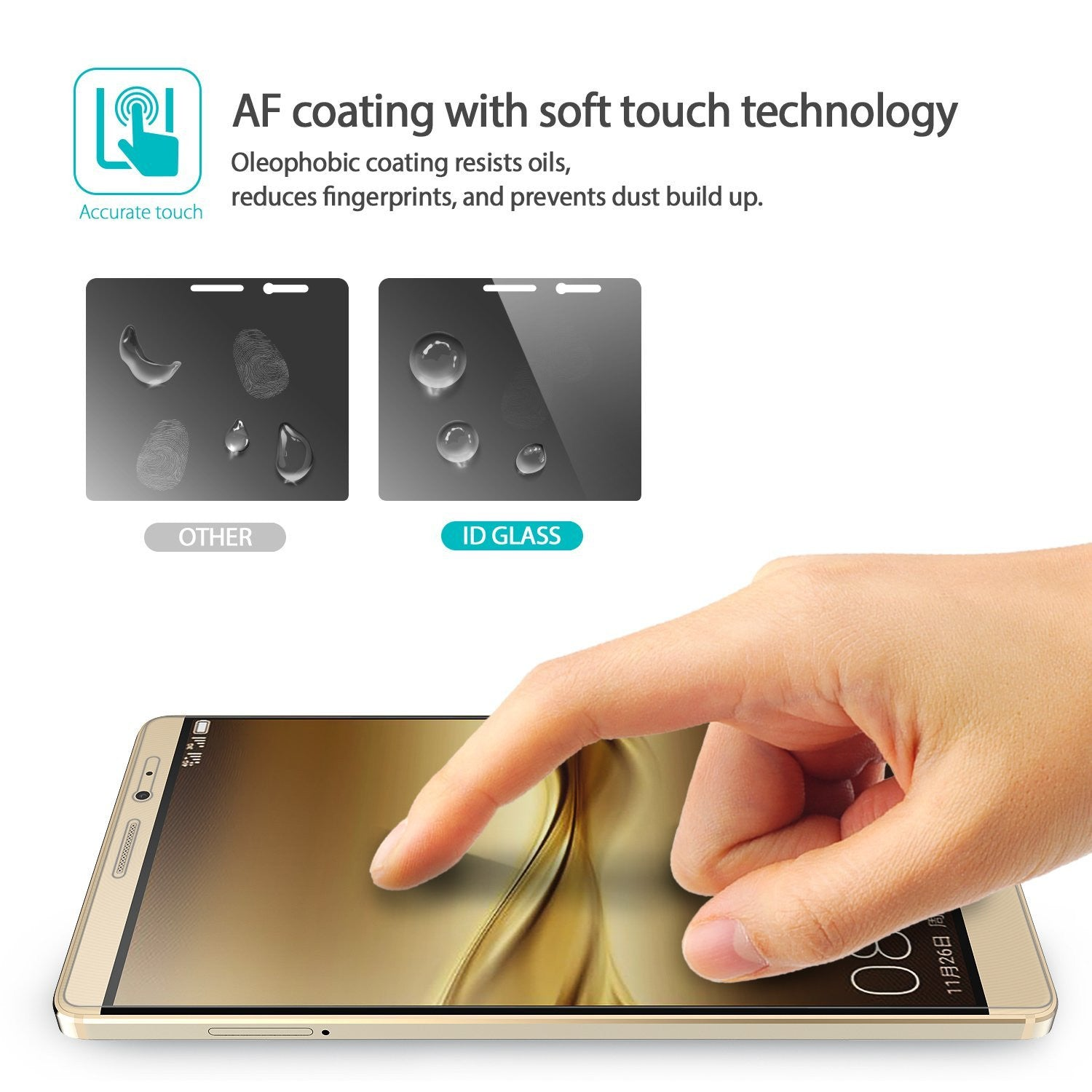 af coating with soft touch technology