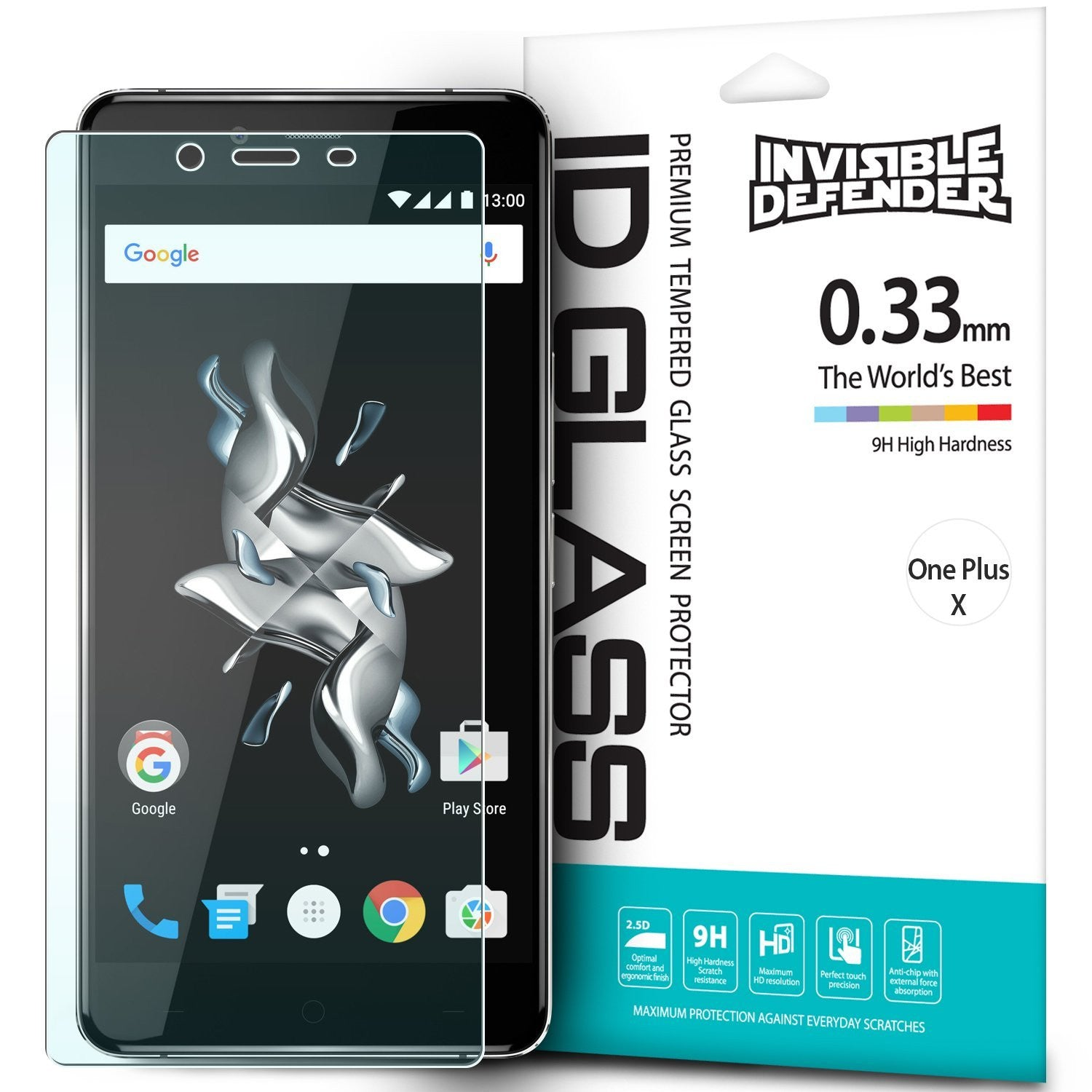 oneplus x invisible defender tempered glass screen protector