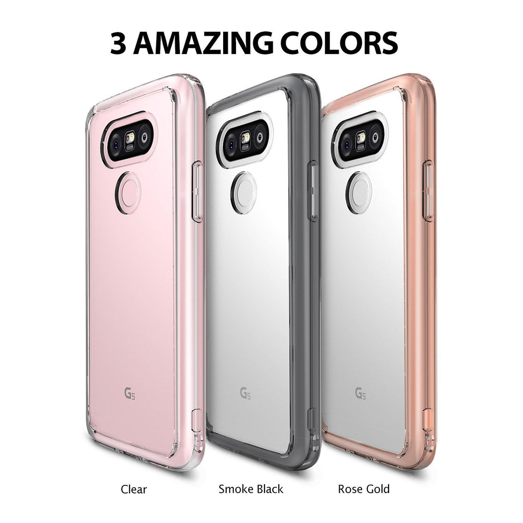 available colors - clear, smoke black, rose gold