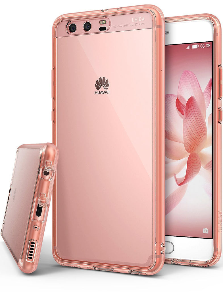huawei p10 plus case ringke fusion case crystal clear pc back tpu bumper case rose gold crystal