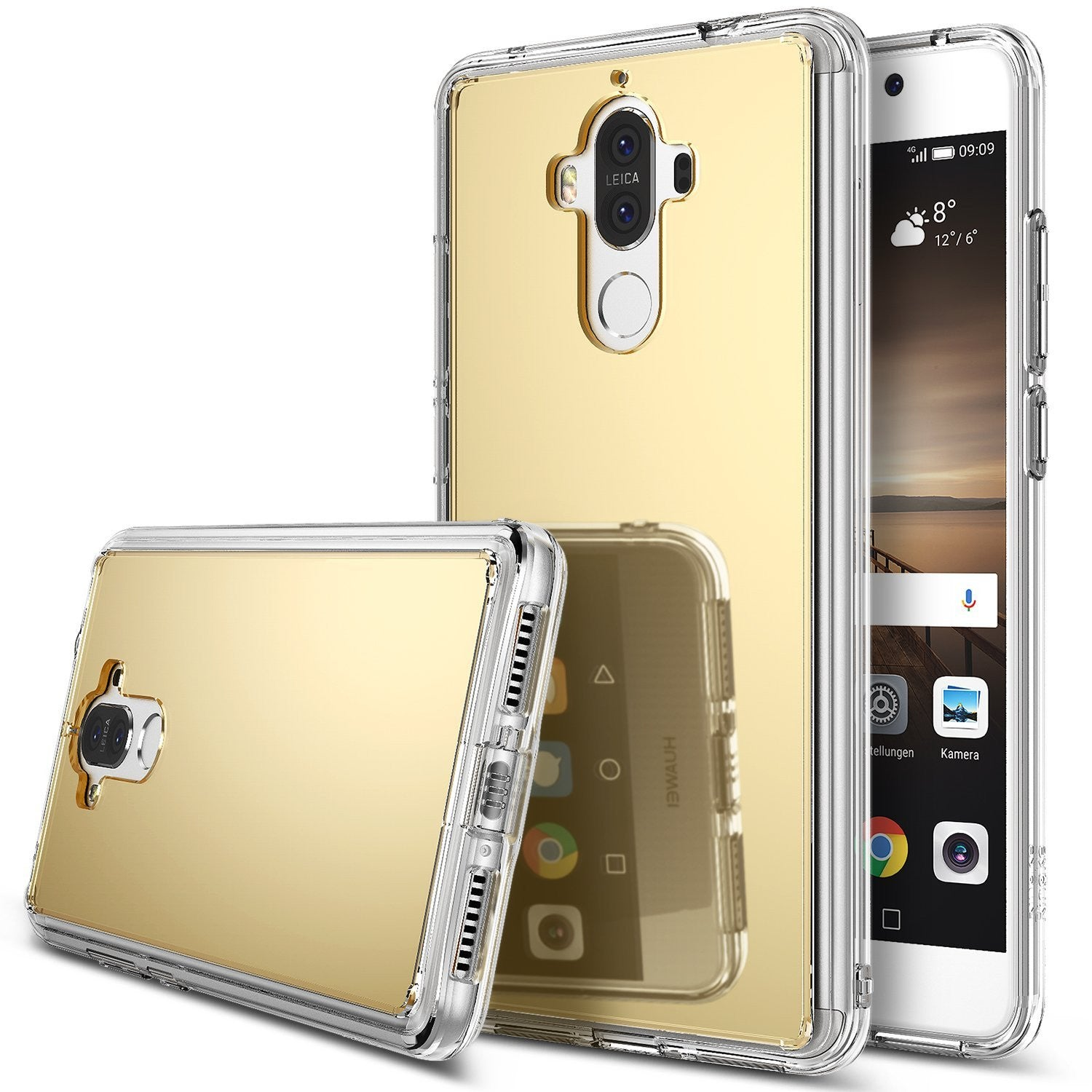 huawei mate 9 case ringke fusion case mirror case bright reflection radiant luxury mirror case royal gold