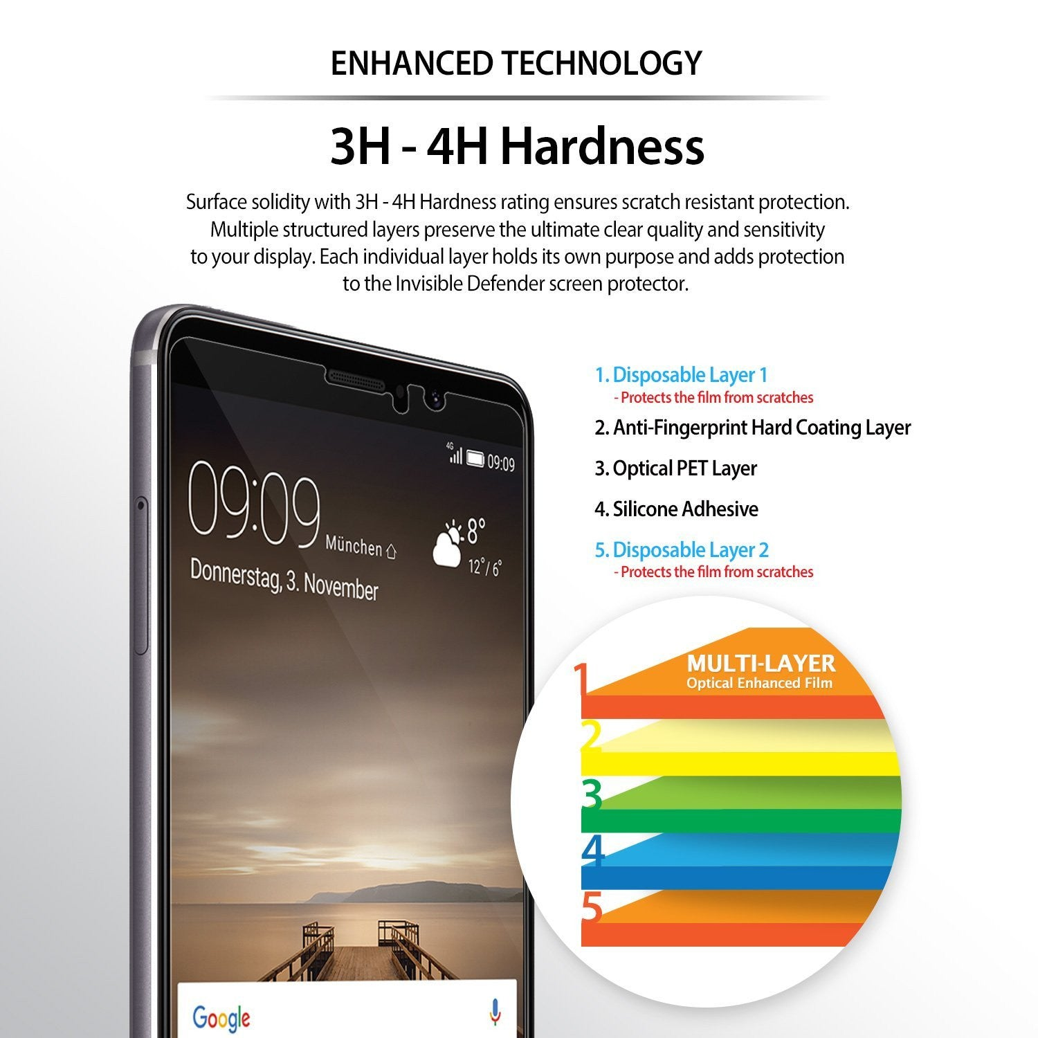 enhanced 3h- 4h hardness