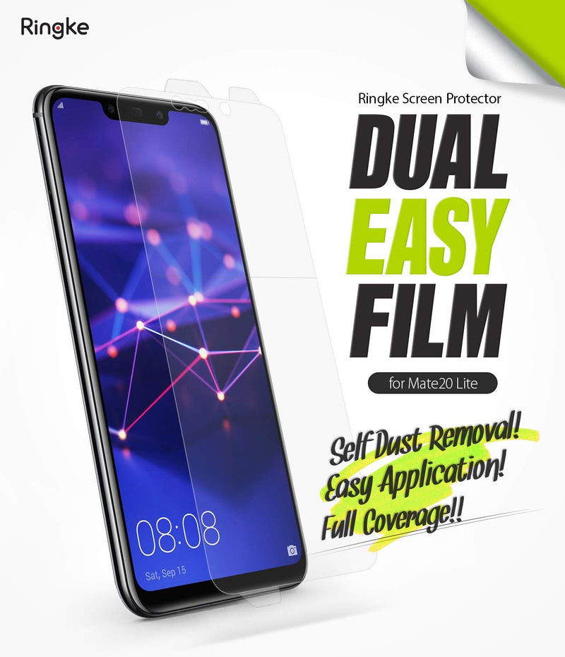 Huawei Mate 20 Lite [Dual Easy Full Cover] Screen Protector [2 Pack]