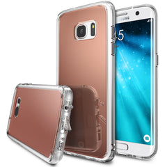 Galaxy S7 Edge Case, Ringke®[FUSION MIRROR] Bright Reflection Radiant Luxury Mirror Case