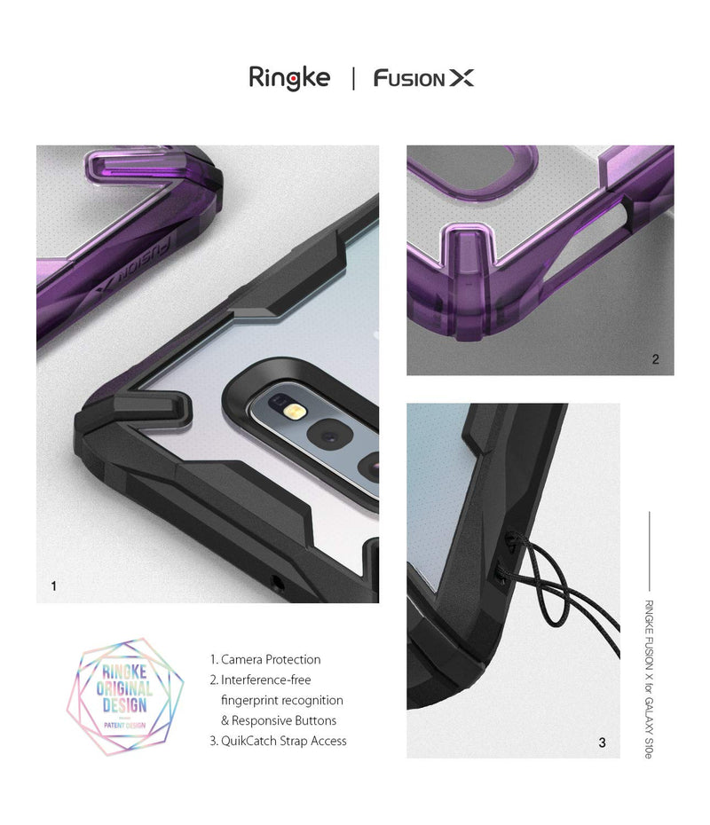galaxy s10e fusion-x case royal purple